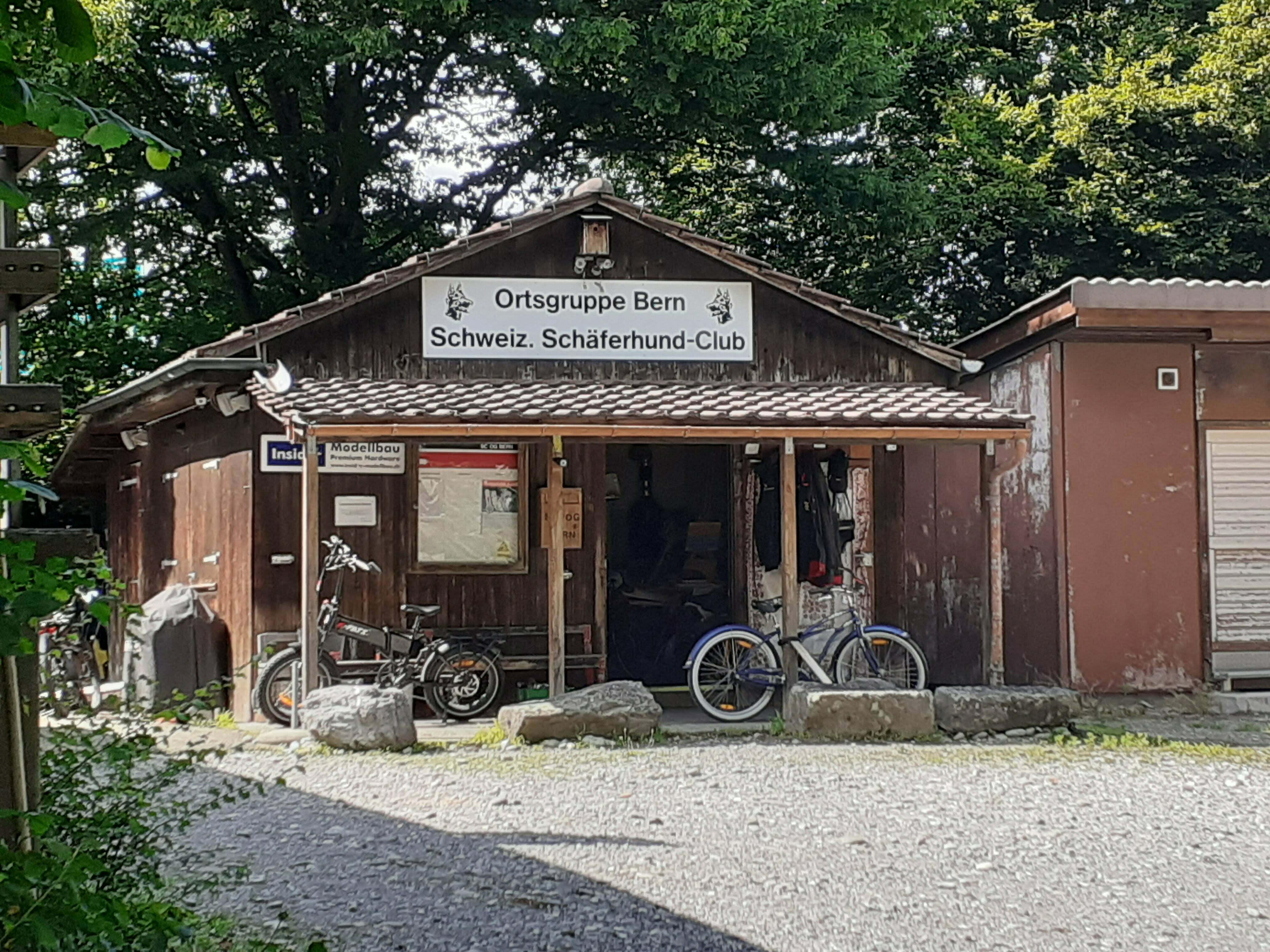 Schon seit über hundert Jahren auf dem Platz zuhause: Die Ortsgruppe Bern des Schweizerischen Schäferhundclubs. (Foto: Rahel Schaad)