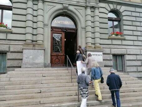 Klimagrosseltern Briefübergabe Amtshaus Klimastreik Foto 2